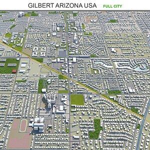 3D Gilbert Arizona USA model
