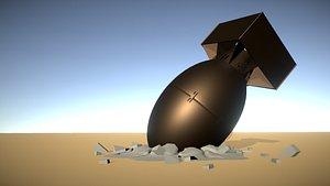 3D model bomb explosives