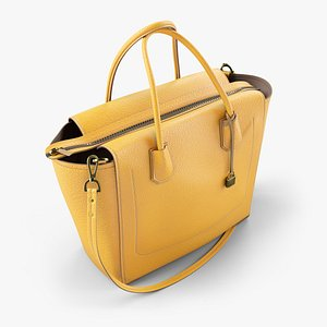 Colored Leather Bag - all colors available 3D
