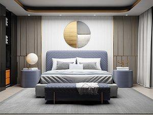 3D Modern Style Bedroom - 522 model