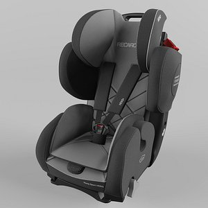3D Recaro Young Sport Hero Children Car Seat Core Carbon Black