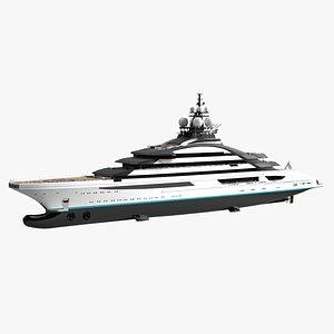 Lurssen Opus Luxury Yacht Dynamic Simulation 3D