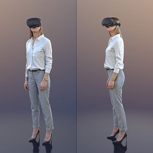 3D 10029 Ramona - Business Woman With Virtual Reality Headset