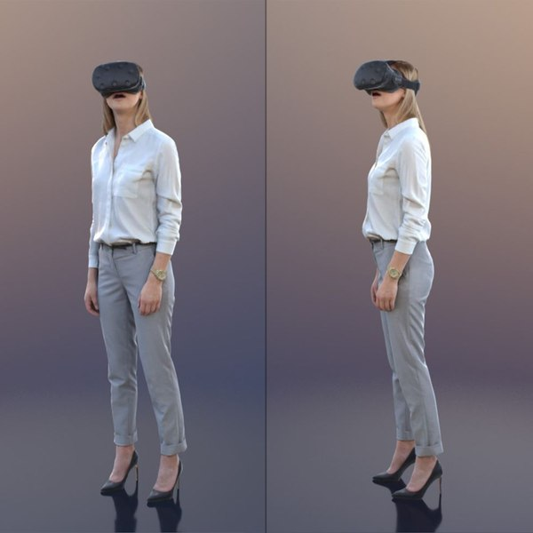 3D 10029 Ramona - Business Woman With Virtual Reality Headset