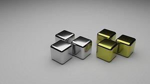 Metal Ice Cubes 3D model
