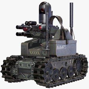 3D Military Combat Robot MAARS