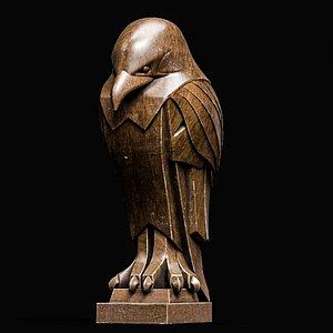 Bird Statue Sculpture Stylized Art Low-poly 3D model model