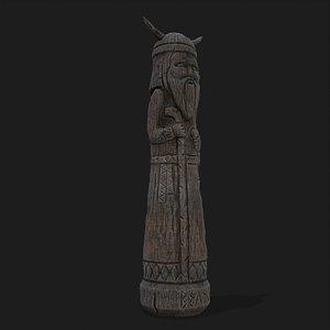3D Velez Wooden Figurine