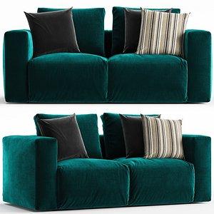 Zanotta Gamma sofa 2 seats 3D