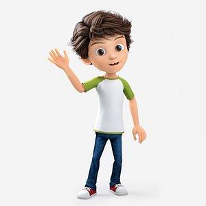 Peter Boy Cartoon 3D model