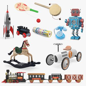 Retro Toys Collection 5 3D model