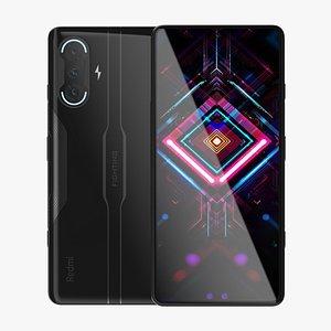 3D Xiaomi Redmi K40 Gaming Edition Black model
