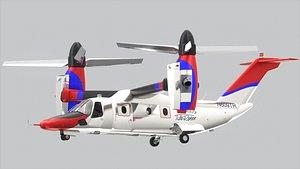 3D AgustaWestland AW609 Resque