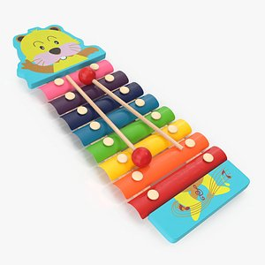 Xylophone Percussion Musical Toy 3D model