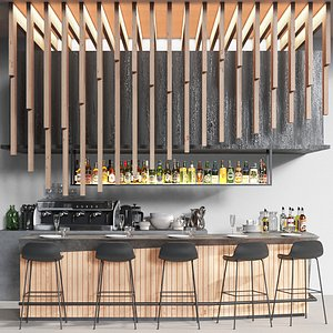 Modern cafe 10 3D model