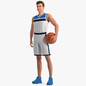 Teen Boy Basketball Rigged for Cinema 4D 3D