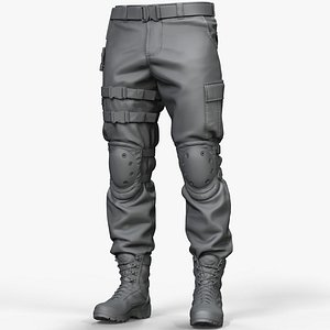 zbrush combat pants army boots 3D