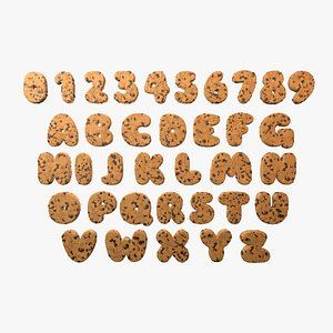 cookie letter typeface model