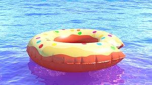 3D Swim ring donut 04 model
