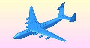 an-225 aircraft assemblies 3D model