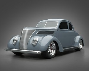 1937 Ford Coupe 5 Window 3D model