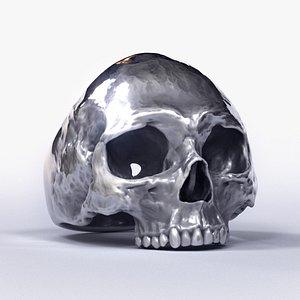 3D model Human Skull Ring