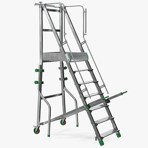 3D Folding Platform Ladder with Narrow Undercarriage model