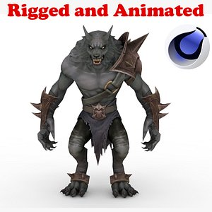 Werewolf Rigged and Animated 3D model