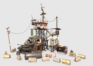 Post-Apocalyptic Outpost 3D model