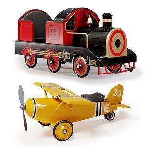 airplane train 3D