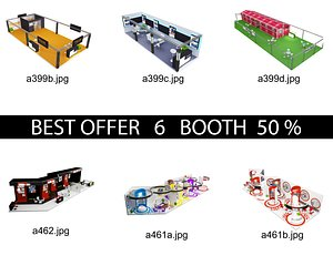 3D Booth Exhibition Stand c11 model