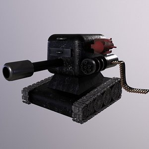 Small and Sweet Tank High Poly 3D Model 3D model