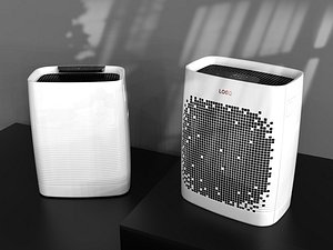 3D model Air purifier C4D model white intelligent household appliances air conditioning drying