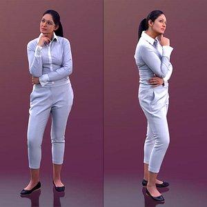 woman business thinking model