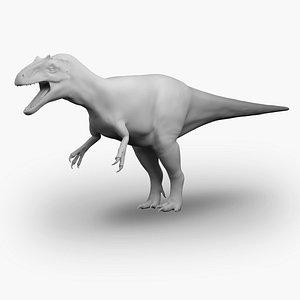 3D model allosaurus basemesh