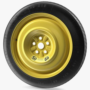 Compact Spare Tire and Wheel 125 R15 model
