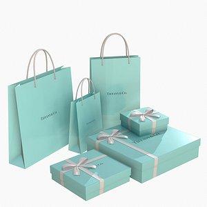 tiffany box gift 3D model