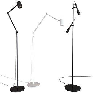 3D ikea nymne lamp floor model