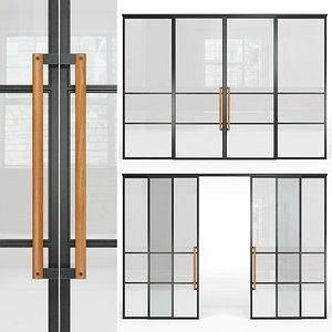 glass partition loft 3D model