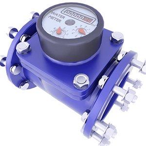 3D Industrial Water Meter 3
