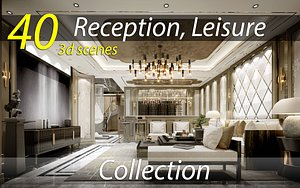 3D Collection Reception Lobby Leisure scenes 3d model