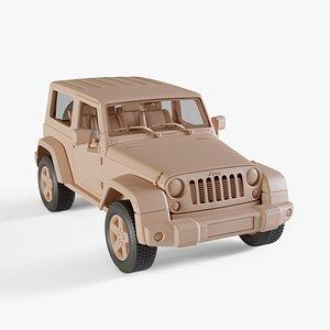 2010 Jeep Wrangler 3D model