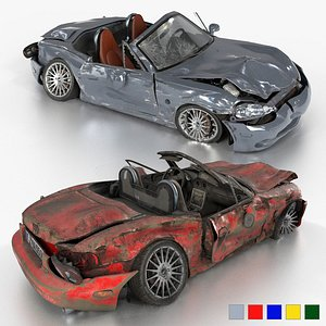 3D MX-5 NBFL wrecked weathered