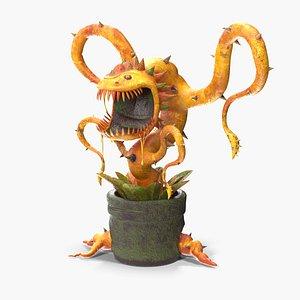 3D carnivorous flytrap plant model