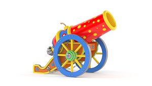 Circus Cannon 3D model