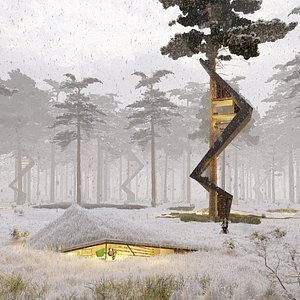 3D nature treehouses house