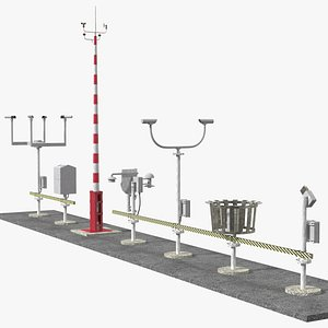 3D Automated Weather Observation System AWOS Set