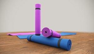 yoga mat 3D
