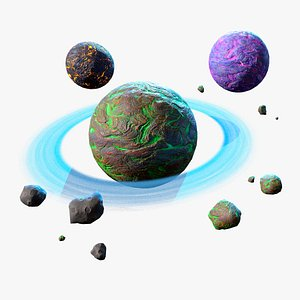 RTS Space Games Planets 3D model
