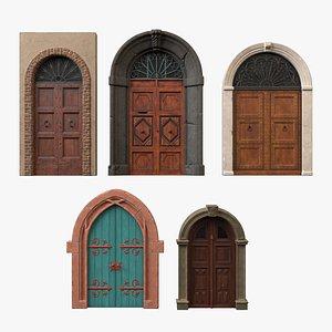 3D Exterior Door Collection model